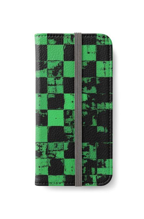 Green and Black Bricks Pattern by cool-shirts