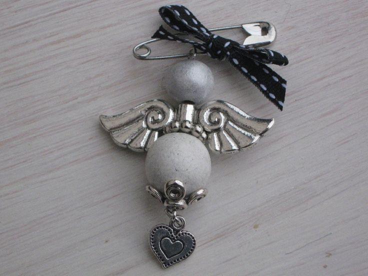 Sjaal-broche kralen-engeltje