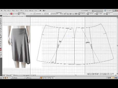 Model uygulamalı etek 31 / The model applied pattern skirt  31