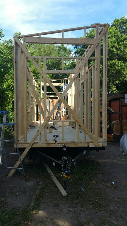 Tiny House Framing Tinyhouse Microhouse Charleston Smallisbeautiful Redefinetheamericandream