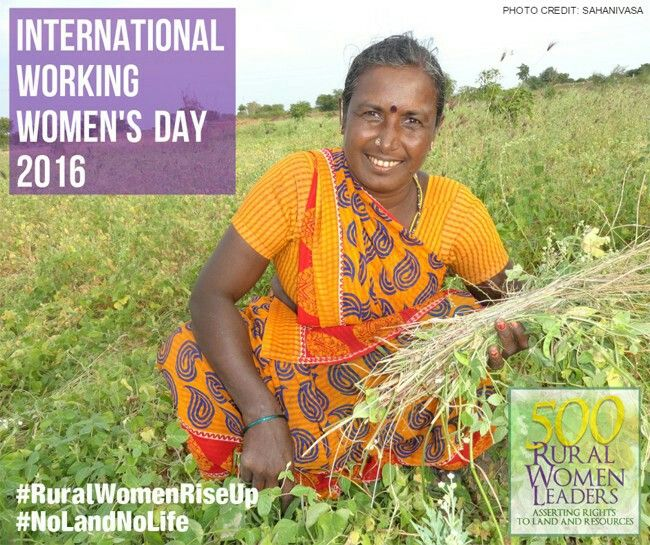 International Day of Rural Women - 15 October, 2016   Rural women, the majority of whom depend on natural resources and agriculture for their livelihoods, make up over a quarter of the total world population. In developing countries, rural women represent approximately 43 per cent of the agricultural labour force, and produce, process and prepare much of the food available, thereby giving them primary responsibility for food security. #NoLandNoLife #IDRW2016