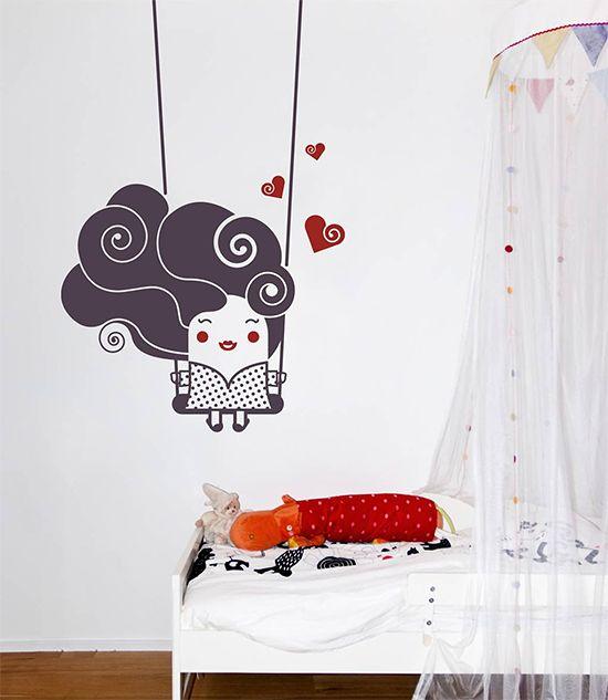 Wall Sticker HAPPY GIRL by Sticky!!!