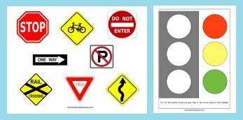 Transportation and Road Safety Preschool Printable