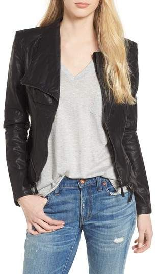 BLANKNYC Faux Leather Jacket. Leather jackets are making a comback in style. Don't miss out on this fashion trend! Sponsored #fashiontrends #leatherjacket