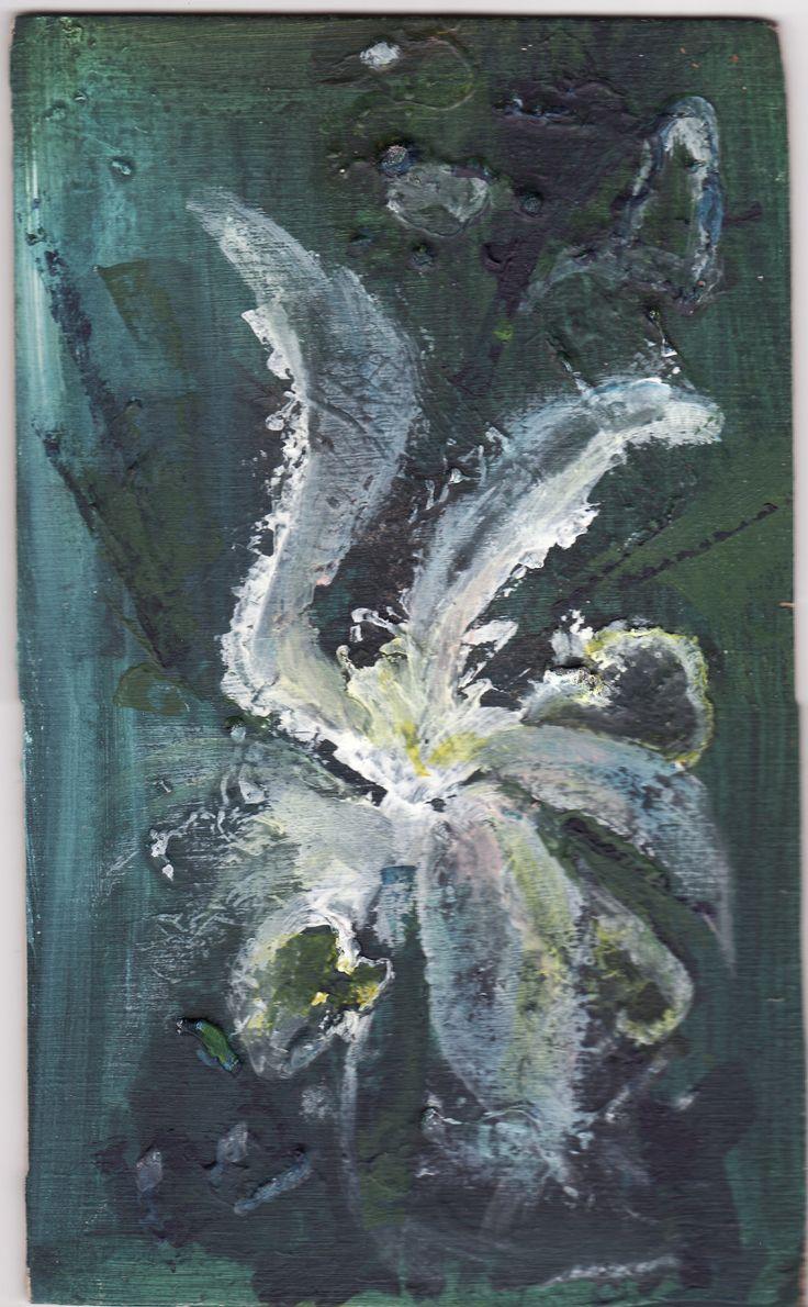 Květ - akvarel.MŠi