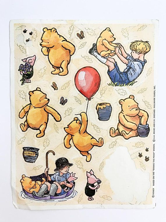 Vintage Winnie Pooh Stickers from Hallmark with one sticker missing.  Sticker sheet measures about 6 x 4.5  ***** Please note items are being shipped via ground shipping with Canada Post. Tracking and insurance is not included in this standard shipping rate. If you would like to receive a tracking number, kindly let us know!