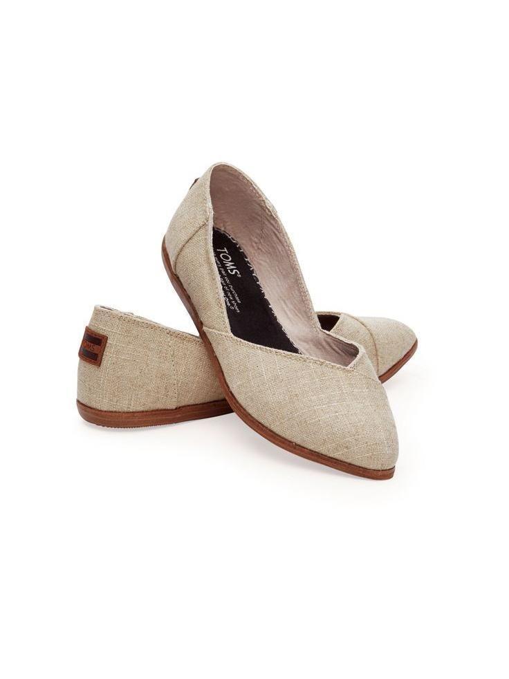 Tendance Chaussures   Natural Burlap Womens Jutti Flat