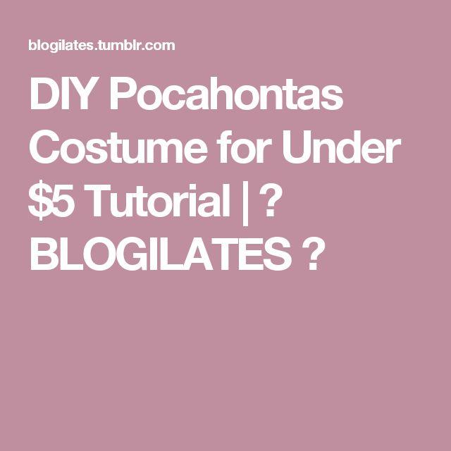 DIY Pocahontas Costume for Under $5 Tutorial | ❤ BLOGILATES ❤