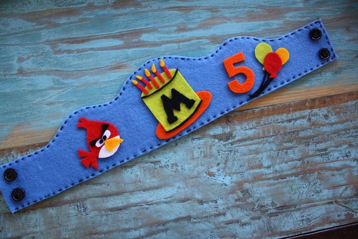 Angry Bird Birthday Crown