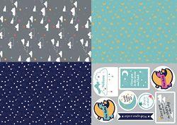 Modern New Baby Bonus Papers | cardmakingandpapercraft.com