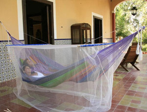 Mosquito Net: This cleverly designed Mosquito Net is a perfect addition to any hammock or hammock chair, allowing you to enjoy your lounging time without being pestered by bugs. A traditional mosquito net with a twist, this beautiful blanket features an intricate pattern across the top and has been sewn at the edges for extra strength and durability.