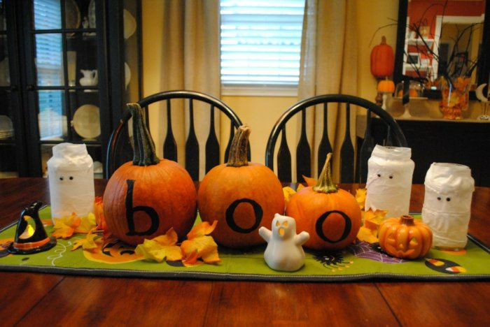 diy ideen halloween basteln halloween tischdekoration