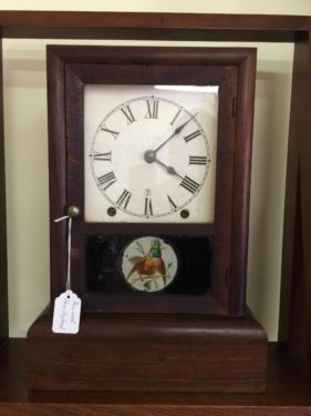 American Empire Clock   Rosewood  $75  Butler Creek Antiques Dealer #8804  Lucas Street Antiques 2023 Lucas Dr. Dallas, TX 75219  Like us on Facebook: https://www.facebook.com/pages/Butle