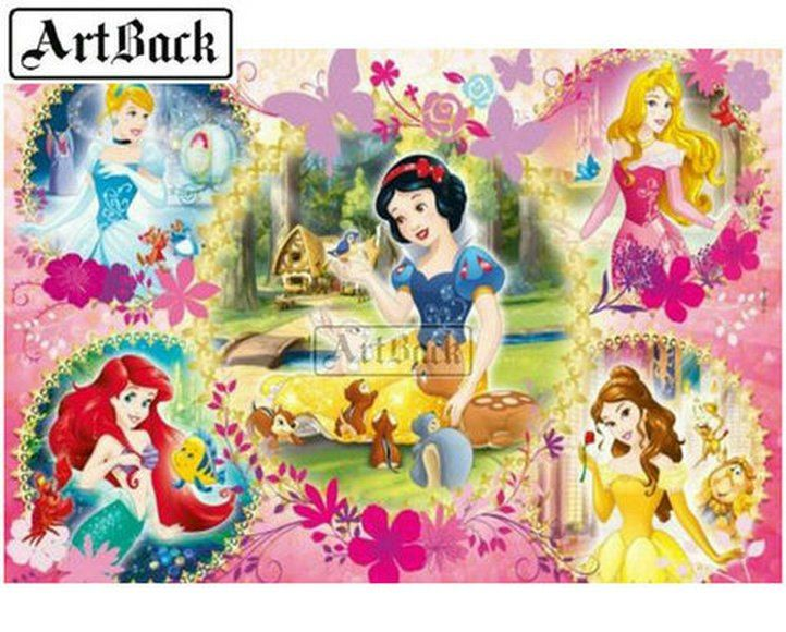 Disney Pricess Cartoon 5D Diamond Painting Full SquareRound Drill Cross Stitch Kits DIY Mosaic Embroidery Home Decor Bedroom Wall Painting