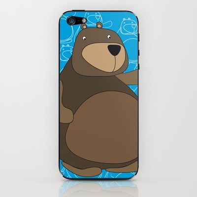 bear iPhone & iPod Skin by stefania coniglio - $15.00