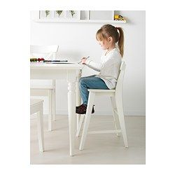 IKEA - INGOLF, Junior chair, , Gives the right seat height for the child at the dining table.