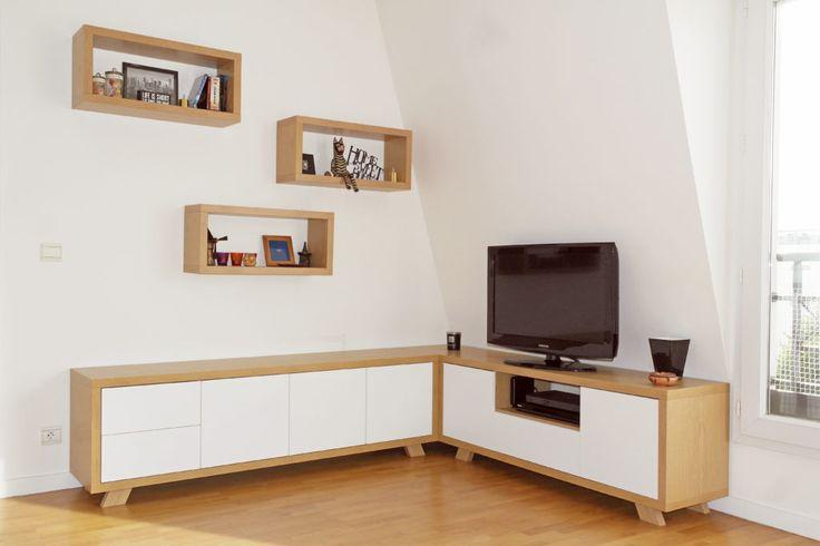 Les 25 meilleures id es de la cat gorie meubles d 39 angle - Meuble hifi diy ...