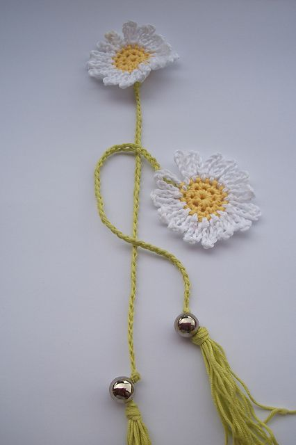 Ravelry: Sunflower Book Marker pattern by Meladoras Creations