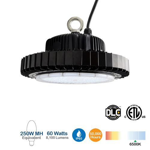 60W UFO LED High Bay Light, 8100 Lumens, 250 MH Equivalent
