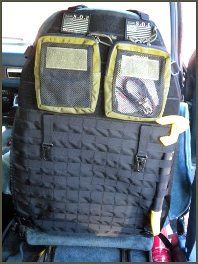 molle car seat organizers shtf bug out pinterest cars originals and fans. Black Bedroom Furniture Sets. Home Design Ideas
