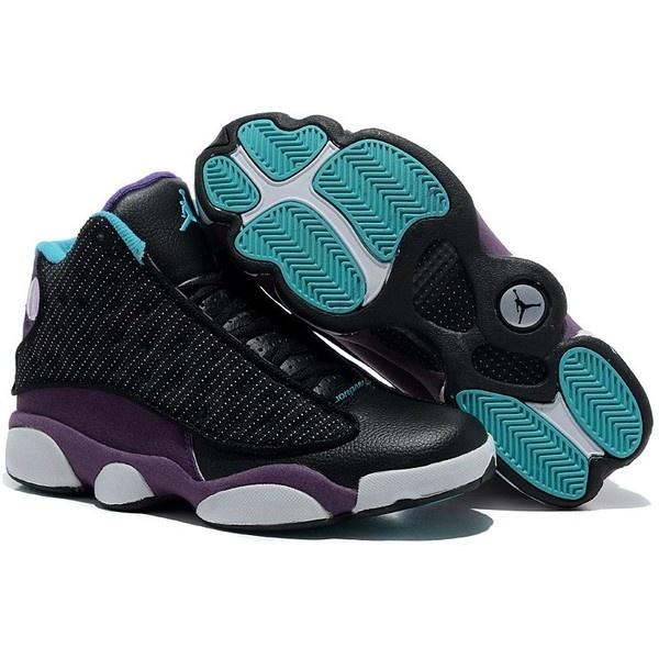 TOP Mens Air Jordan 13 Retro Shoes Black/Purple/Green TAJ13-008 via  Polyvore | Fashion Nike \u0026 Jordan Sneakers | Pinterest | Retro shoes, Jordan  13 and Air ...