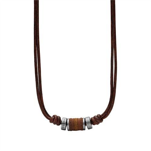 Fossil Vintage Herrenkette aus Leder JF00899797 https://www.thejewellershop.com/ #lederkette #menstyle #chain #leather #herrenschmuck #fossil #vintage #kette #jewelry #schmuck #men