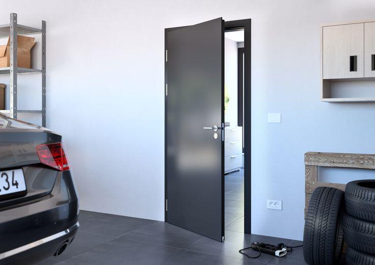 Bezpečnostní dveře Sapeli -ELEGANT_SPECIALNI_DVERE_kouřotěsné, klima_ CPL černá grafit U961
