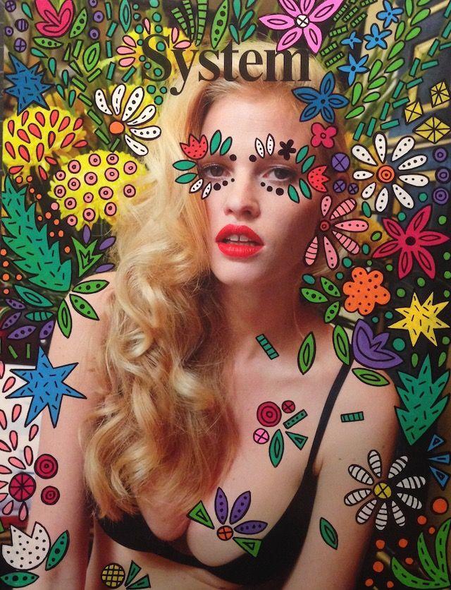 L'artiste Ana Strumpf est l'auteur de la série « Re.Cover » à travers laquelle elle customise à sa manière, avec des feutres Sharpie et DecoColor, des couvertures de magazines tels que W, Interview, Dazed & Confused, Esquire, Vogue ou encore I-D.