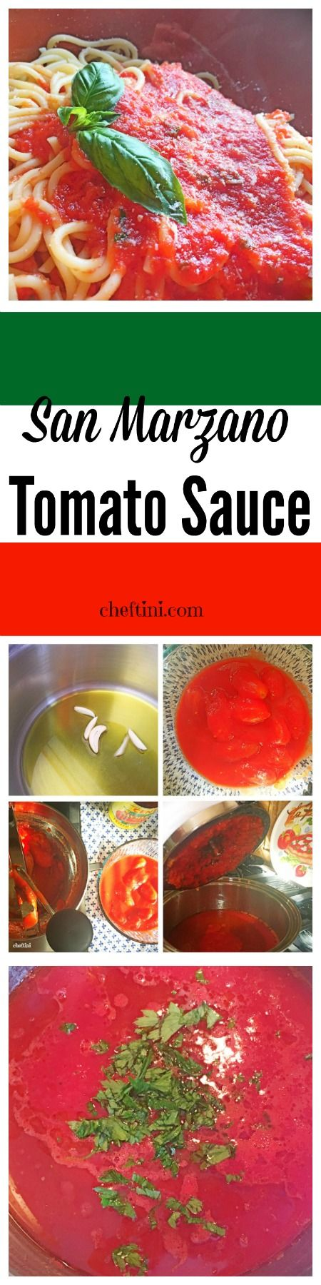 A simple and quick recipe for a traditional Tomato Sauce using San Marzano tomatoes.
