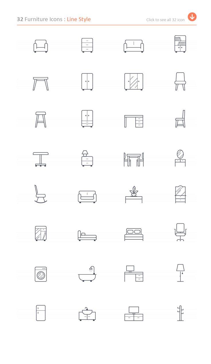 Furniture Icon by ctrlastudio on @creativemarket