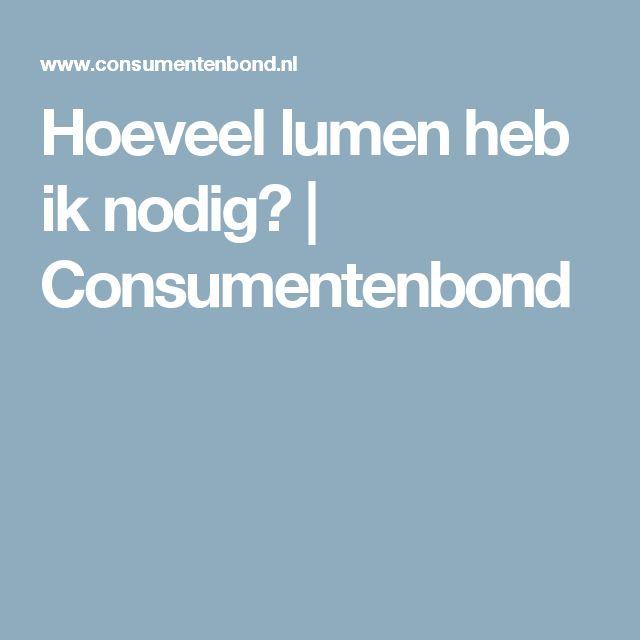 Hoeveel lumen heb ik nodig? | Consumentenbond