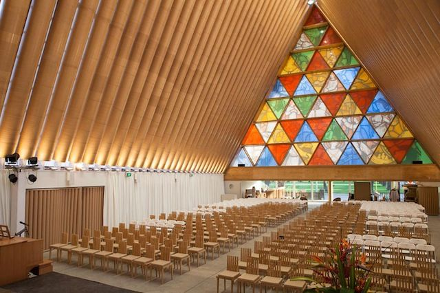 New Zealand Cardboard Church  #architecture #shigeruban Pinned by www.modlar.com