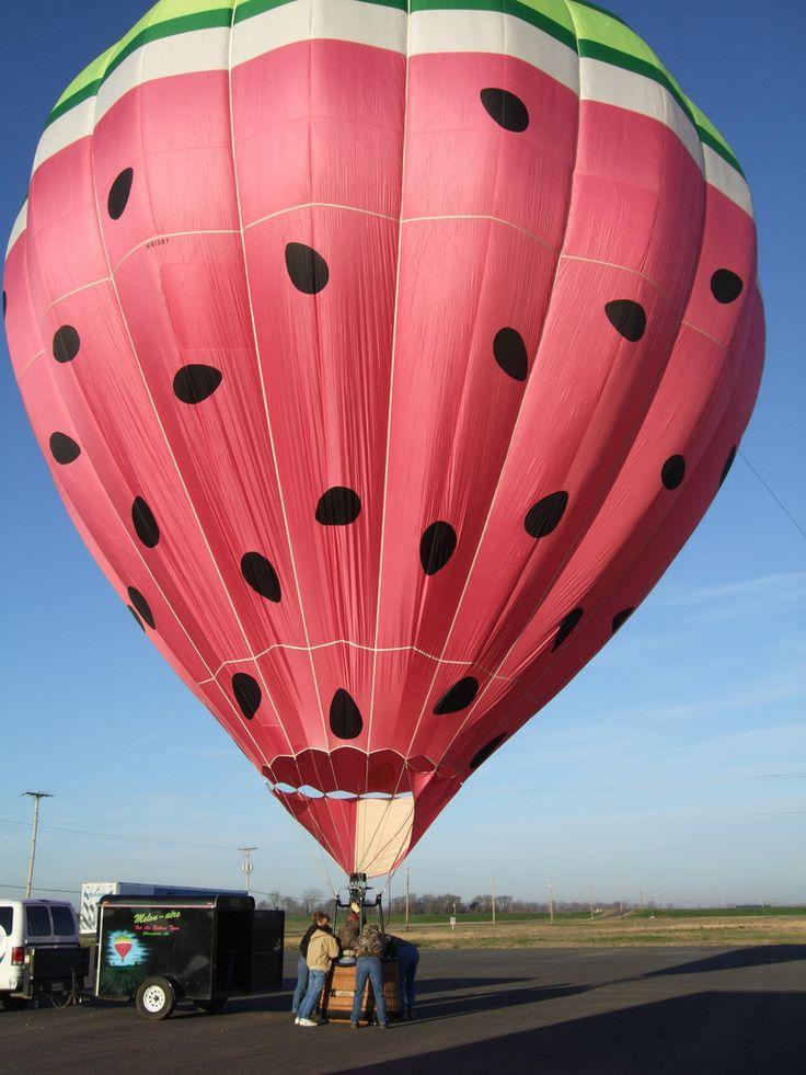 Watermelon hot air balloon [^] Red River Balloon and Sky Parade Shreveport Louisiana 2008 • photo album: https://www.flickr.com/photos/crossloch/sets/72157604082907067