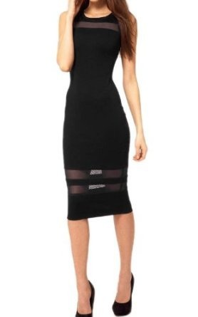 Moonar Lady's Sleeveless Black Mesh Evening Slim Designer Dresses Cocktail Dresses