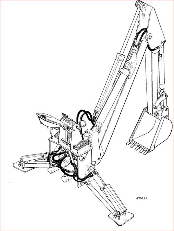 Case 33 Backhoe for 310G 450 Crawlers parts Catalog in