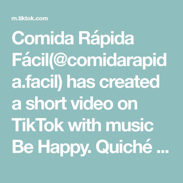 Comida Rápida Fácil(@comidarapida.facil) has created a short video on TikTok with music Be Happy. Quiché de verduras ¡Súper fácil! #fyp #parati #aprendecontiktok #cheese #receta #boo #miraperros #viral
