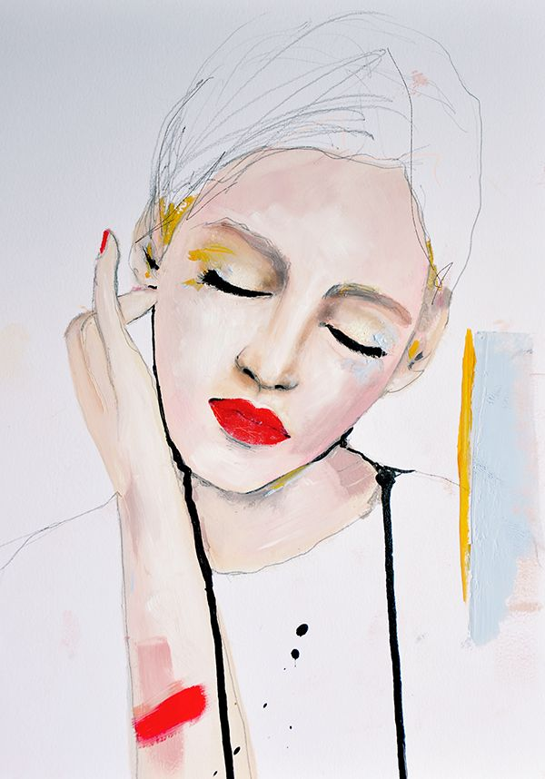 CREATE: Essence Fashion Portrait painting by Leigh Viner