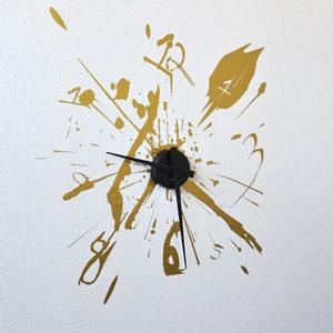 Wallsticker clock