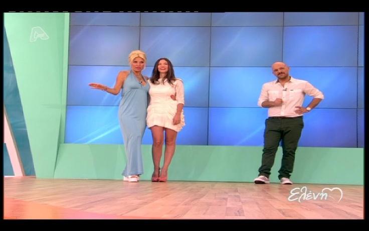 "Athina Oikonomakou wears ""Christina Skarpeli"" on ""Eleni"" tv show"