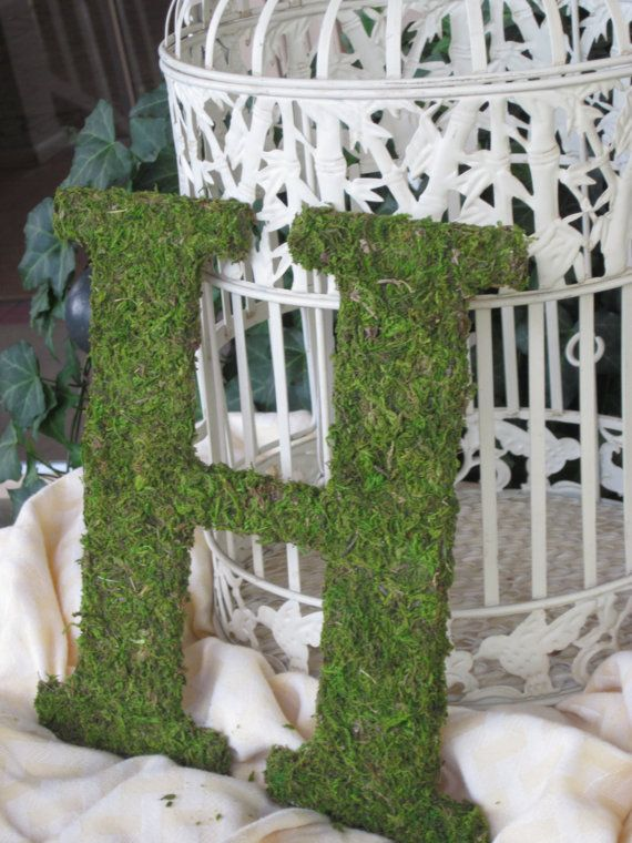 Moss Covered Monogram Letter - Moss Covered Letter ( 8 inches ) on Etsy, $26.42 CAD