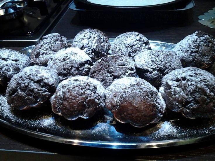Muffin con scaglie di cioccolato fondente