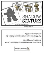 Shadow Statues Inuksuk file folder game