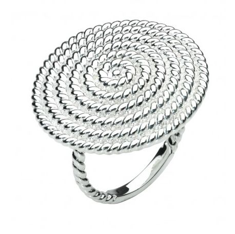 Rope texture sterling silver ring, $150 #XoWishList