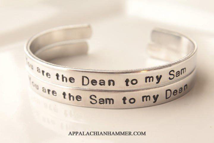 Sam to my Dean and Dean to my Sam Cuff Bracelets