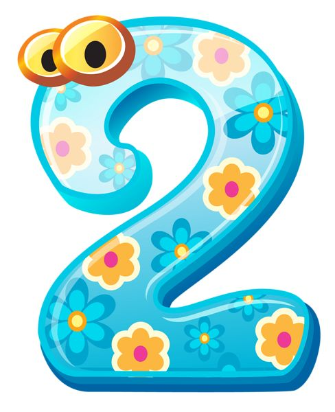 Cute Number Two PNG Clipart Image