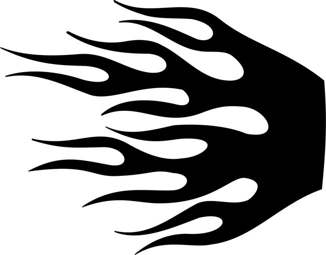 Wildfire Flame Stencil Clip Art Harley davidson posters, Harley