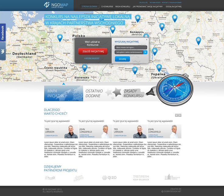 NGO MAP website design.