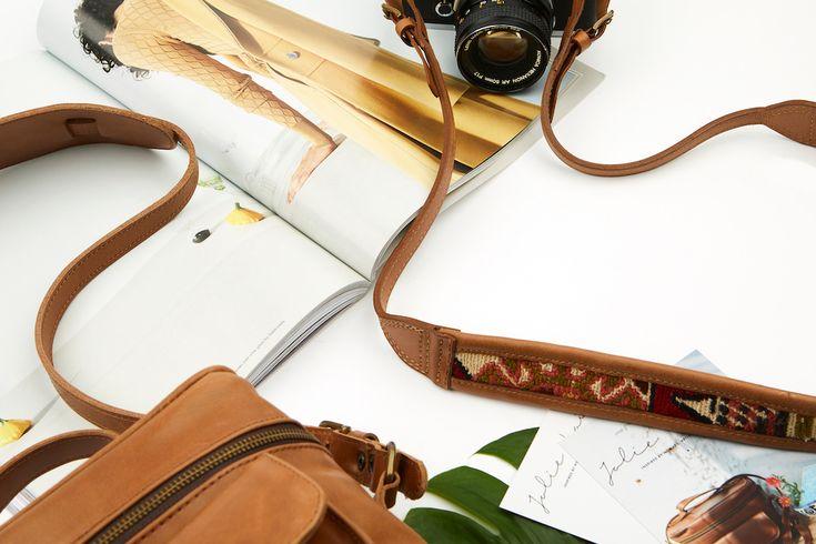 JOLIE LAIDE | The Travel Set // Leather Camera Bag + Leather Camera Strap | shop Jolielaide.ca