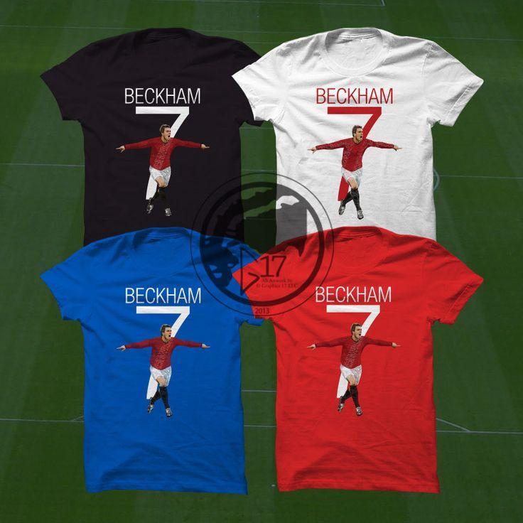 Mufc Beckham 7 T-Shirt - Manchester United Soccer Player - Beckham Shirt - Custom Apparel Football, futbol, soccer, mufc, beckham tee by Graphics17 on Etsy
