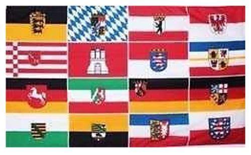 Fahne Flagge Hissfahne Deutschland 16 Bundesländer  90x150 WOW